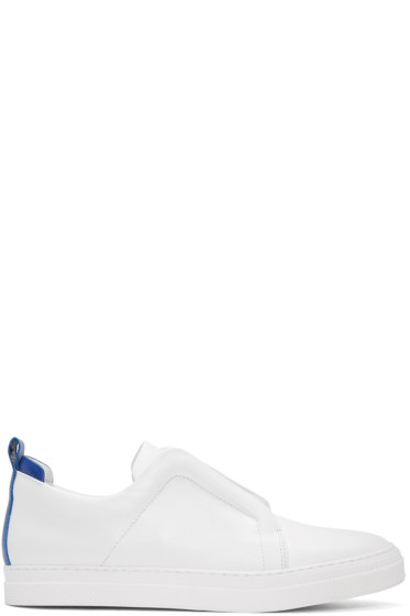 Pierre Hardy - White Slider Slip-On Sneakers