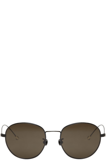 Ann Demeulemeester - Black Small Round Sunglasses