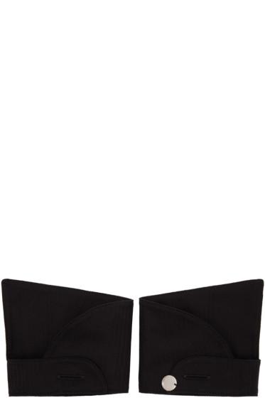 Ann Demeulemeester - Black Button Cuffs
