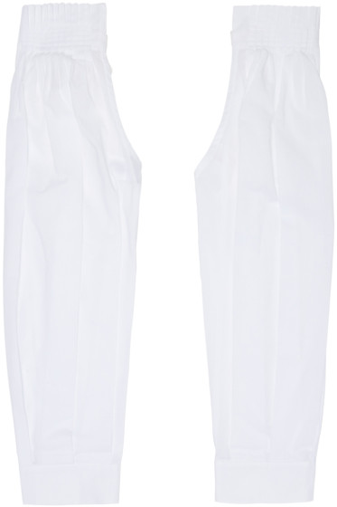 Ann Demeulemeester - White Pleated Sleeves