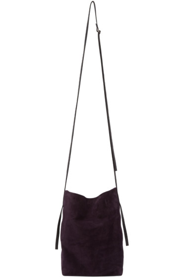 Ann Demeulemeester - Purple Suede Shoulder Bag