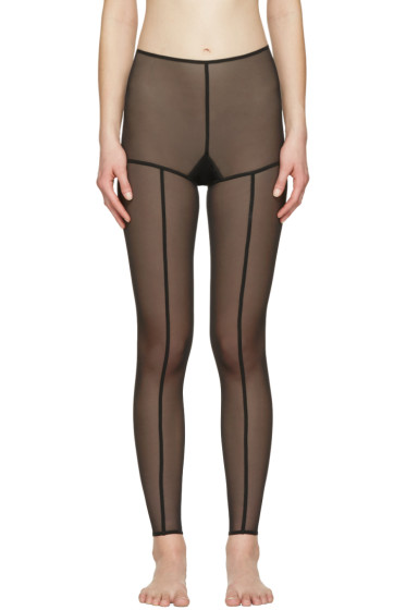 Ann Demeulemeester - Black la fille d'O Edition Tulle Leggings