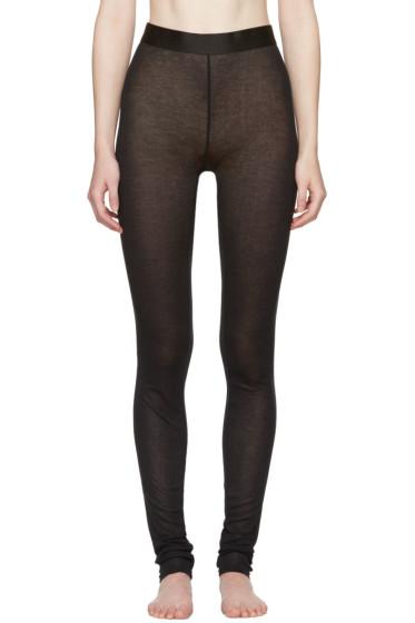 Ann Demeulemeester - Black Jersey Leggings