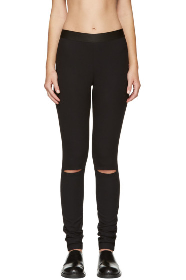 Ann Demeulemeester - Black Knee Slit Trousers