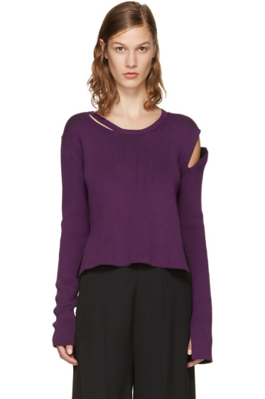 Ann Demeulemeester - Purple Median Pullover