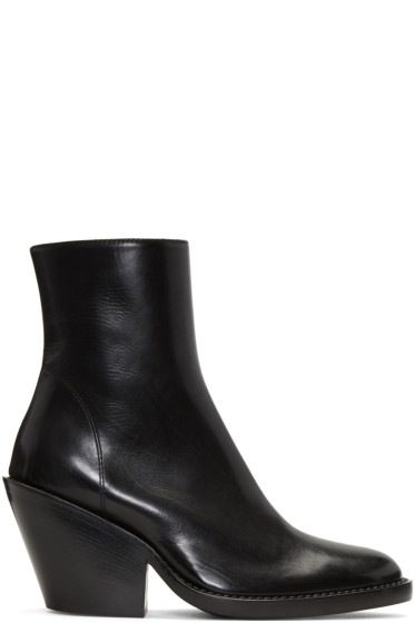 Ann Demeulemeester - Black Ankle Boots