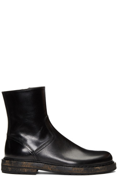 Ann Demeulemeester - Black Horseskin Zip-Up Boots