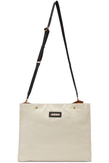 Marni - Ecru Voile Shoulder Bag