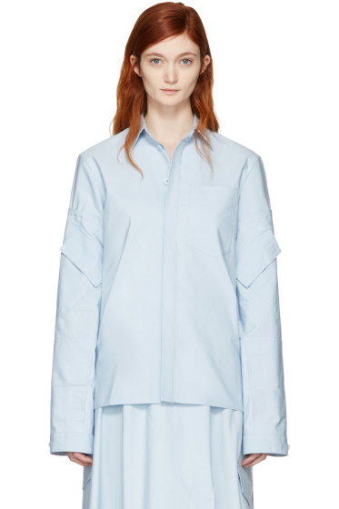 Marni - Blue Cotton Pockets Jacket