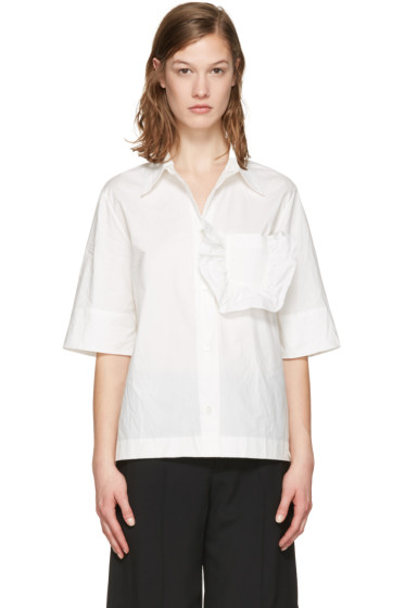 Marni - White Ruffle Pocket Shirt