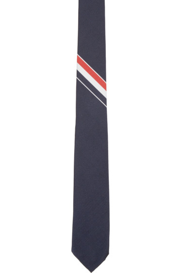 Thom Browne - Navy Classic Striped Tie