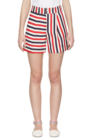 Thom Browne - Tricolor Single Pleat Mini Shorts