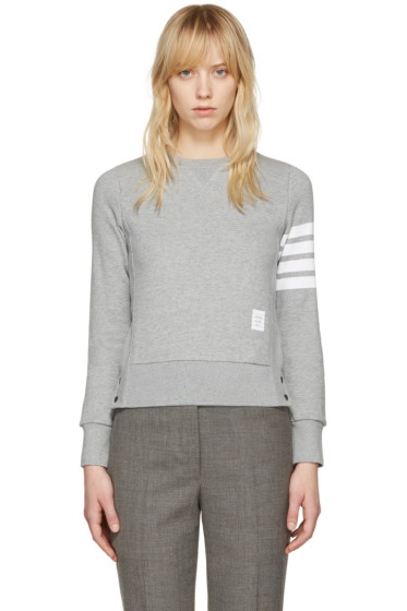 Thom Browne - Grey Classic Four Bar Pullover