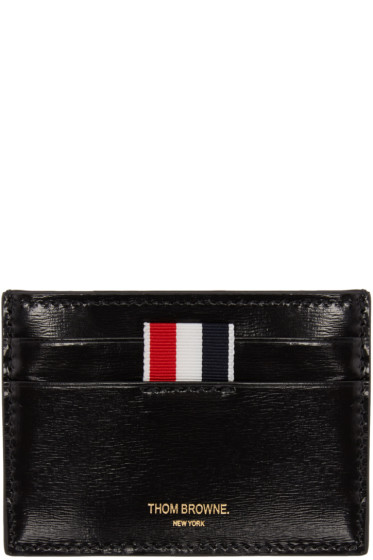 Thom Browne - Black Striped Single Card Holder