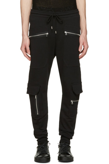 Markus Lupfer - Black Cargo Zip Lounge Pants
