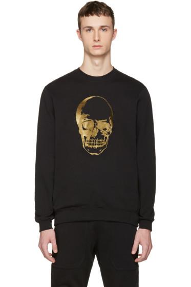 Markus Lupfer - Black & Gold Skull Pullover