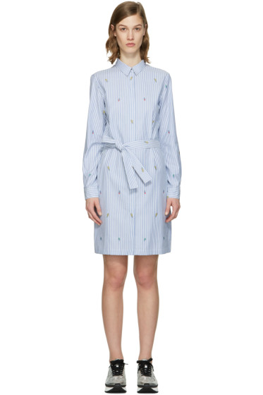 Kenzo - Blue Striped Cartoon Dress