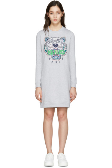 Kenzo - Grey Tiger Pullover Dress