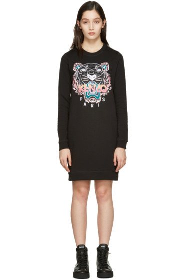 Kenzo - Black Tiger Pullover Dress