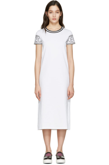 Kenzo - White Logo T-Shirt Dress