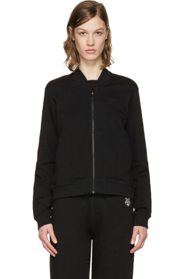 Kenzo - Black Embroidered Tiger Zip-Up Pullover