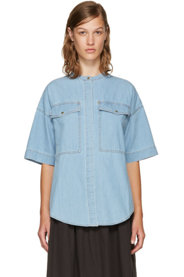 Kenzo - Blue Denim Pockets Shirt