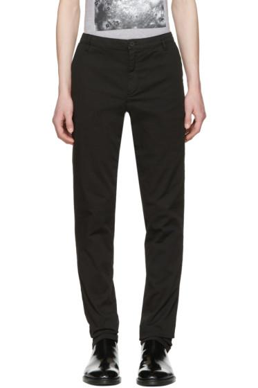 Kenzo - Black Logo Chino Trousers