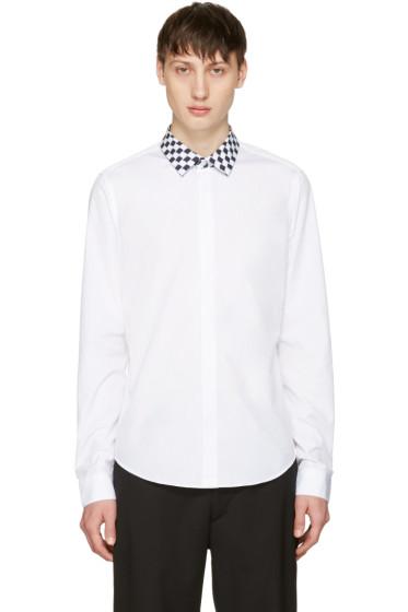 Kenzo - White Print Collar Shirt
