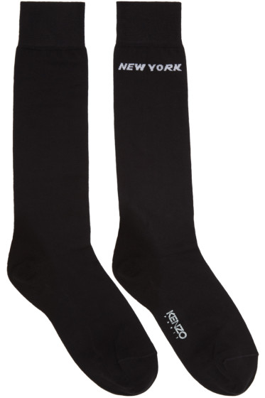 Kenzo - Black Paris/New York Socks