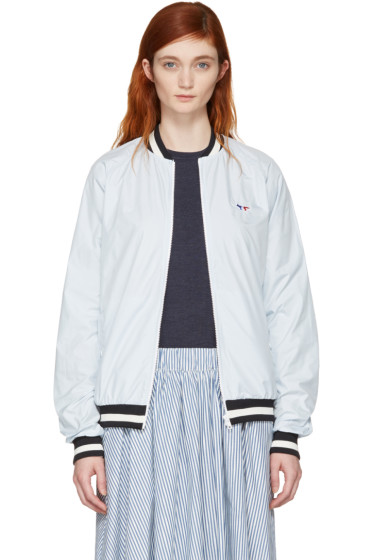 Maison Kitsuné - Blue Tricolor Fox Windbreaker Jacket