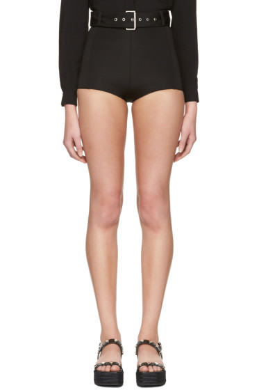 Versus - Black Belted Mini Shorts