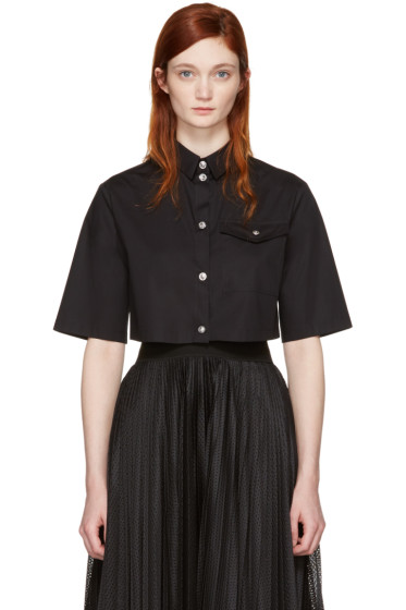 Versus - Black Cropped Poplin Shirt