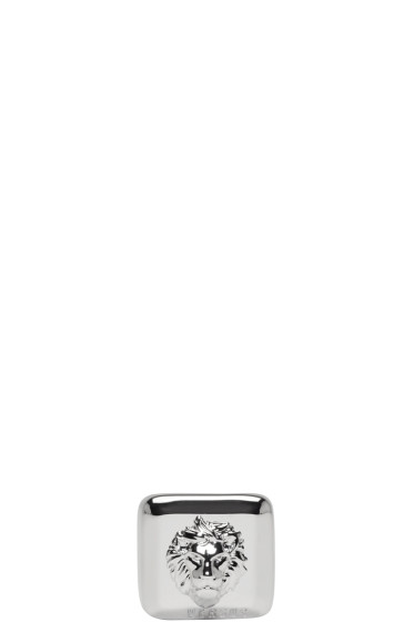 Versus - Silver Square Lion Head Ring