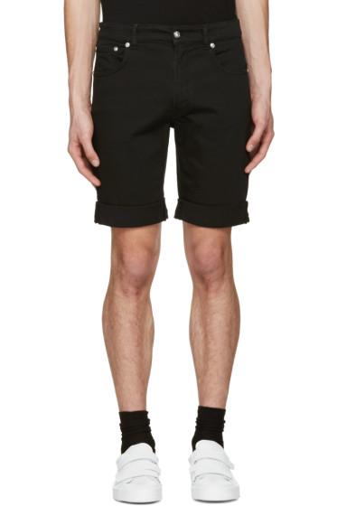 Versus - Black Denim Shorts