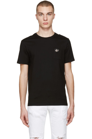 Versus - Black Lion Badge T-Shirt