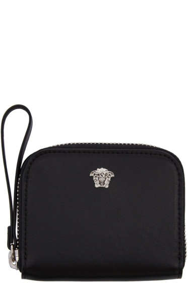 Versace - Black Medusa Zip Wallet