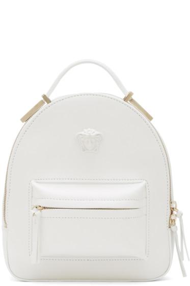 Versace - White Mini Medusa Backpack