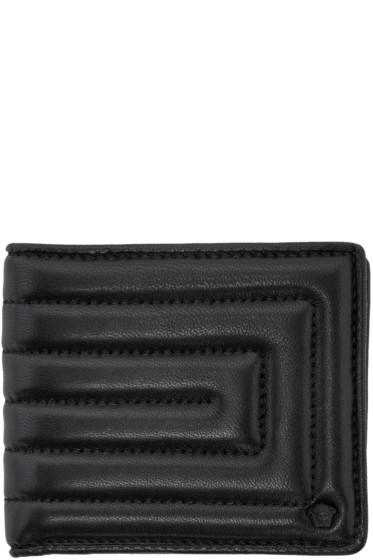 Versace - Black Quilted Medusa Wallet