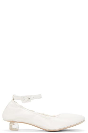 Simone Rocha - Ivory Perspex Tooth Mini Heels