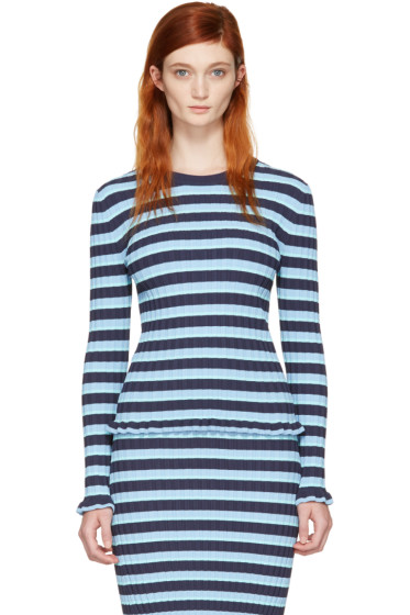 Altuzarra - Blue Striped Chandler Pullover