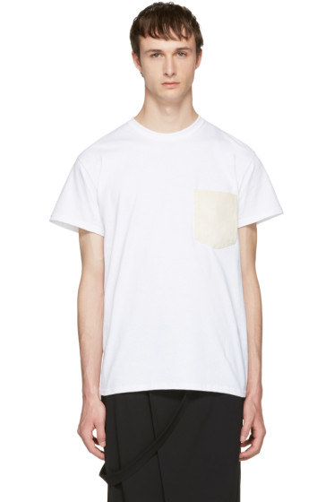 Sasquatchfabrix - White Washi Pocket T-Shirt