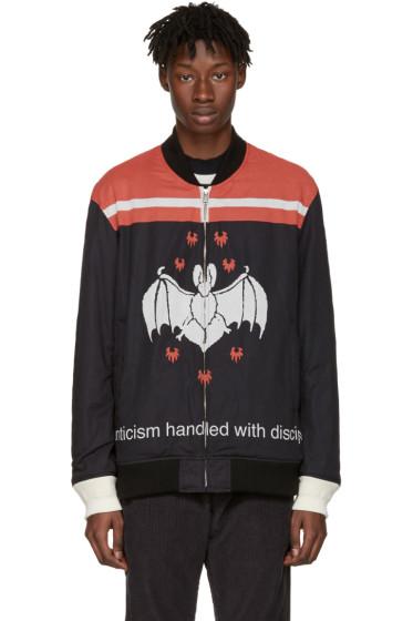 Undercover - Black 'Romanticism Handled with Discipline' Bomber Jacket