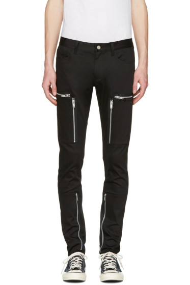 Undercover - Black Zipper Pocket Trousers