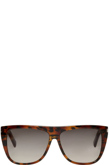 Saint Laurent - Tortoiseshell SL 1 Bold Sunglasses