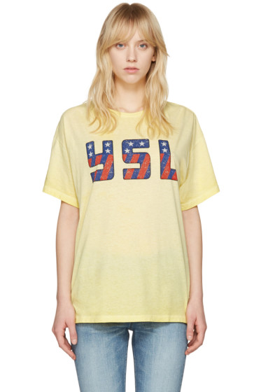 Saint Laurent - Yellow USA T-Shirt