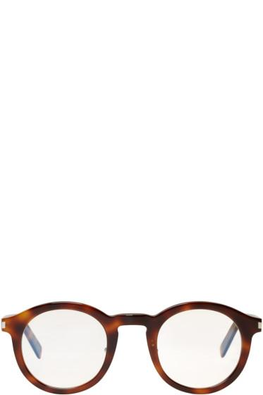 Saint Laurent - Tortoiseshell SL 140 Slim Glasses