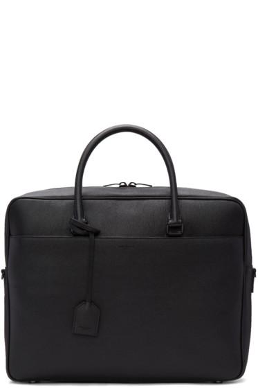 Saint Laurent - Black Grained Calfskin Briefcase