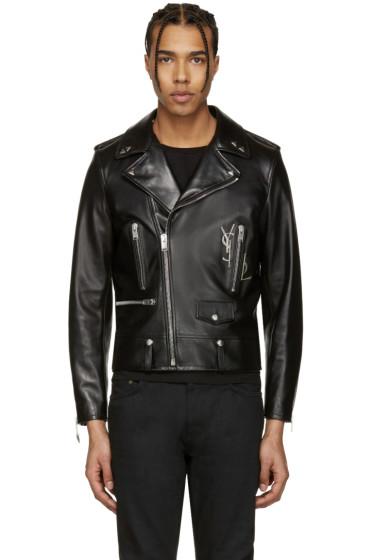 Saint Laurent - Black Classic Monogram Motorcycle Jacket