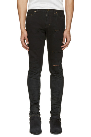Saint Laurent - Black Low Waisted Skinny Jeans