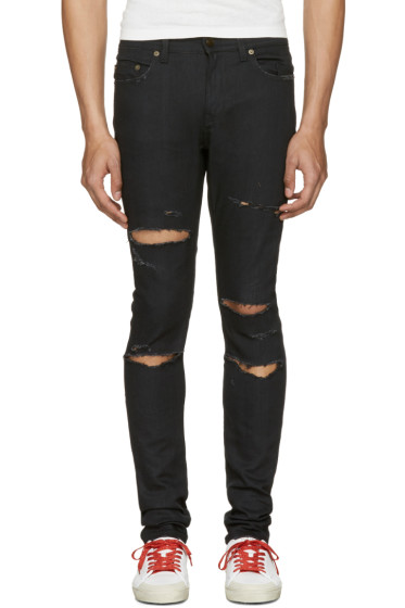 Saint Laurent - Black Original Low Waisted Skinny Jeans